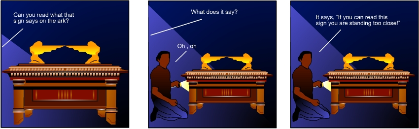 Bible Cartoon Ark of the Covenant